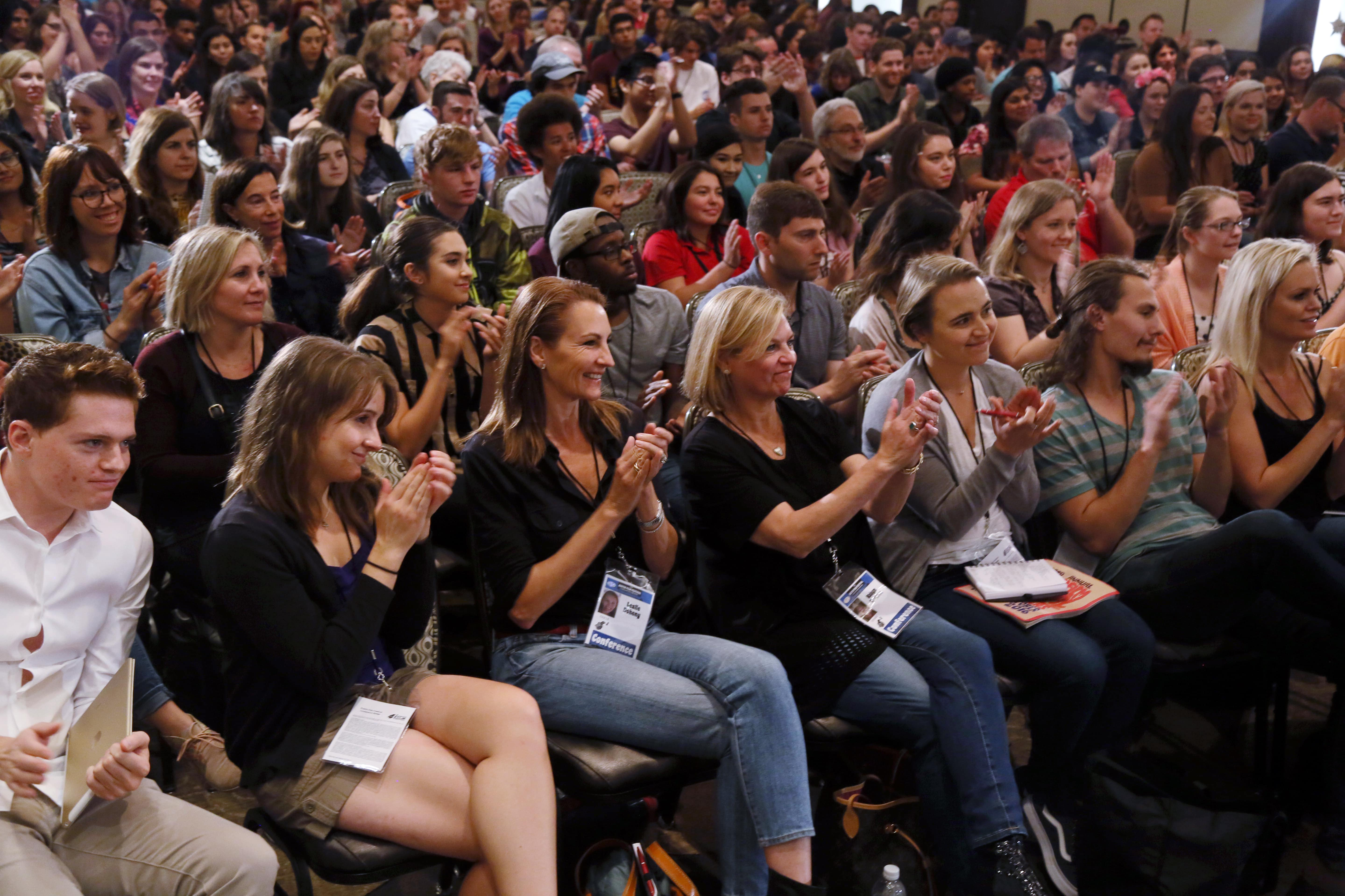 Conference audience at jason segel s 2016 panel min